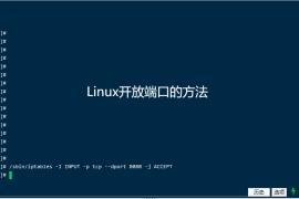 linux系统开启端口的方法
