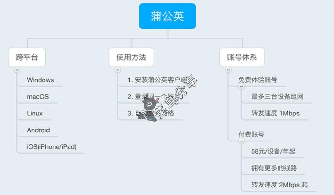 蒲公英VPN - 两步自建不限速免费共享网盘第1张-菜鸟分享